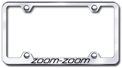 Automotive Gold Laser Etched Zoom Zoom Black Cut-Out Frame