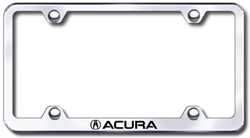 Acura Laser Etched Stainless Steel License Plate Frame XXXLFACU - Acura license plate frame