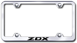 Acura ZDX Laser Etched Stainless Steel License Plate Frame ...